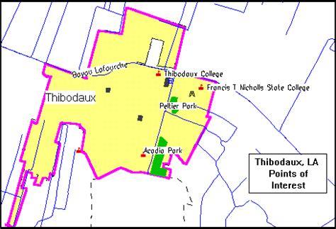 louisiana points of interest map thibodaux consolidated plan executive summary