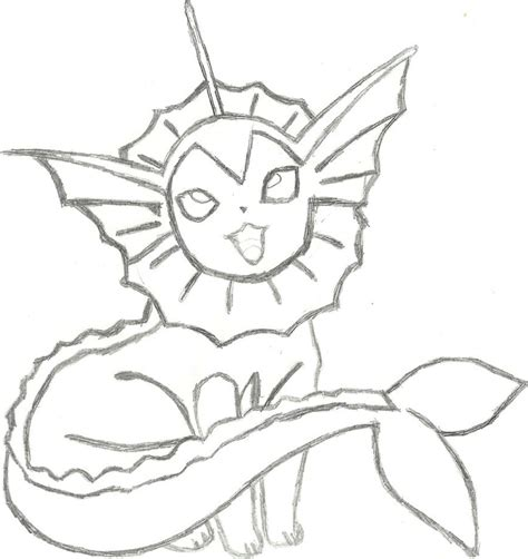 pokemon vaporeon coloring pages images pokemon images