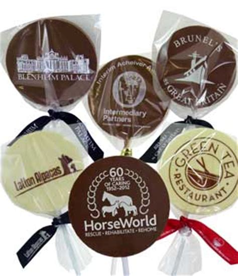 promotional chocolate lollipops