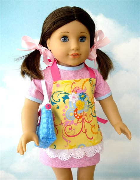 clothes pattern for 18 inch doll 18 inch american girl doll clothes sewing pattern dress
