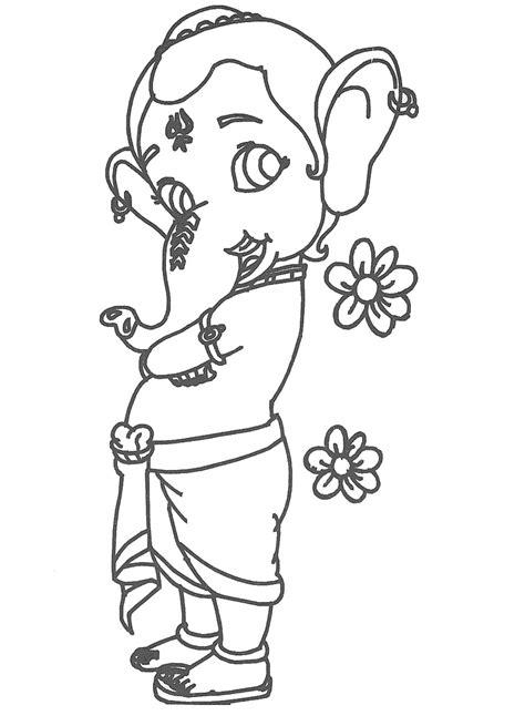 cute ganesha coloring pages lord ganesha drawing cliparts co