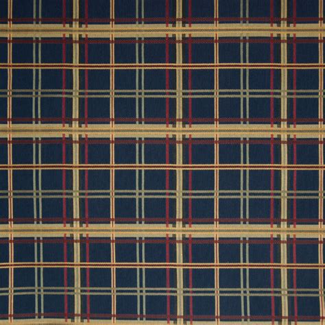blue plaid upholstery fabric navy blue plaid check houndstooth woven cotton upholstery