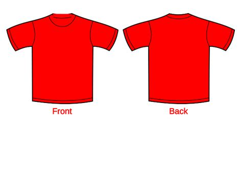 the gallery for gt red t shirt template front and back