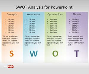 Free Swot Template For Powerpoint Free Powerpoint Templates Slidehunter Com Microsoft Powerpoint Templates Swot