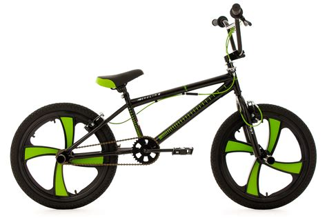 green cycling freestyle bmx bike quot digit quot black green mag wheels 360