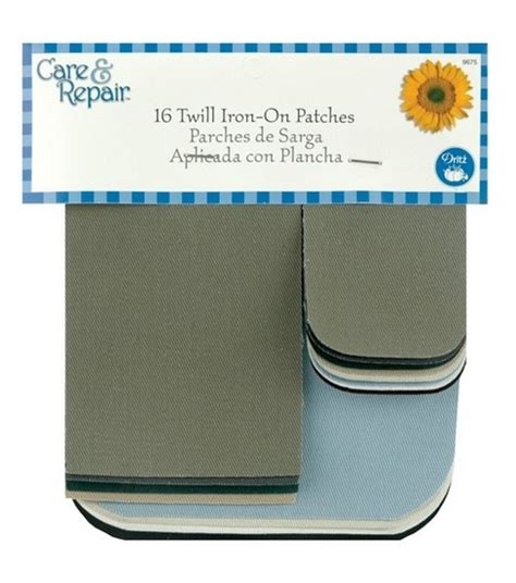 dritz iron on printable fabric dritz 174 assorted iron on twill patches 16 pkg jo ann