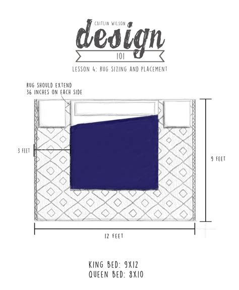 bed sizes and space around the bed caitlin wilson cw design 101 lesson 4 rug sizing and