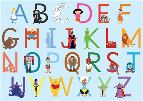 childrens character alphabet  early years