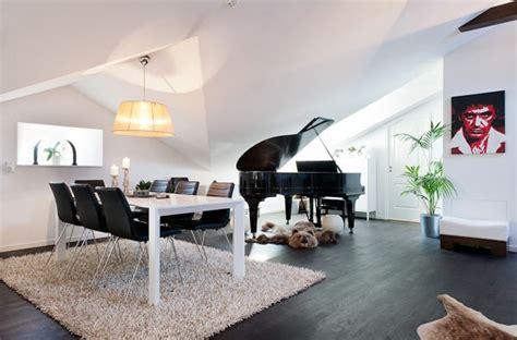 wohnzimmer mit klavier einrichten dachwohnung einrichten 30 ideen zum inspirieren