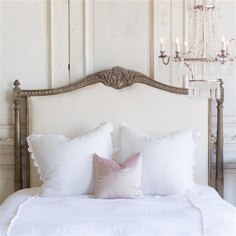 country french headboards french country style vintage style headboard kathy kuo home