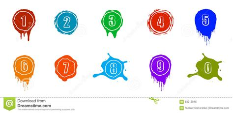 numbers to color clipart finders