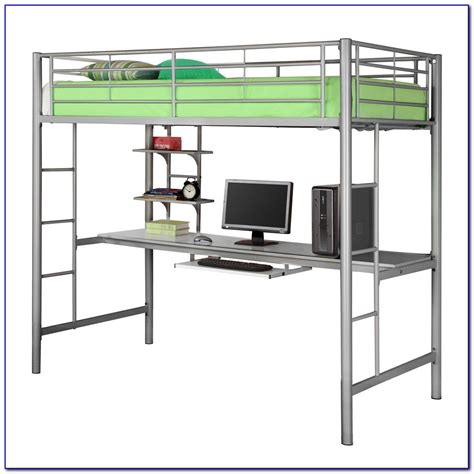 bunk bed with desk it bunk bed with desk underneath plans page home