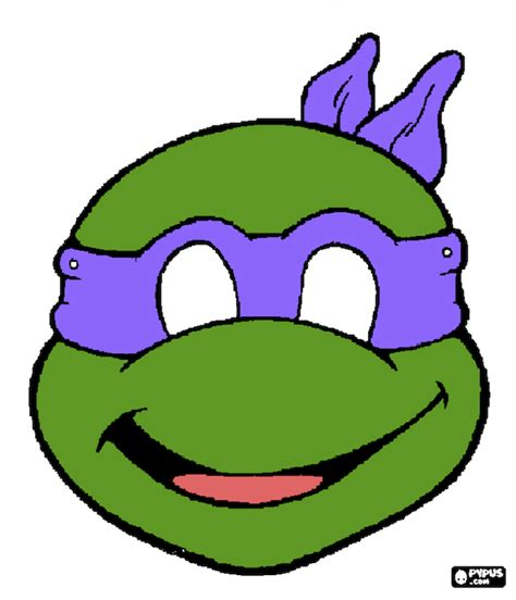 printable leonardo mask tmnt outline clipart clipart suggest
