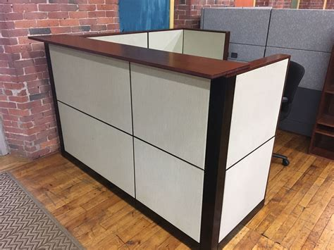 72 Quot W X 77 Quot D Refurbished Steelcase Reception Desk Steelcase Reception Desk