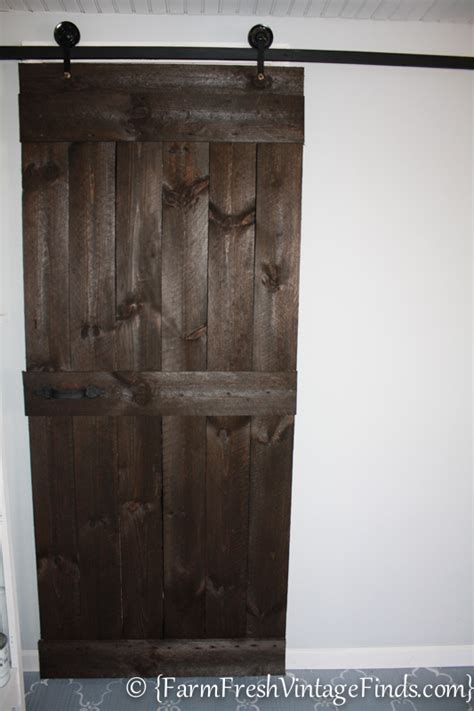 Building A Barn Door How To Build A Barn Door For Around 20 Bucks Farm Fresh Vintage Finds