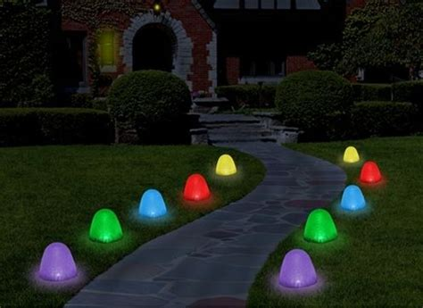 8 quot tall gumdrop sugar coated pathway led light set of 10