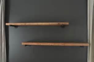 pipe and wood shelving diy industrial shelving tutorial black decker drill