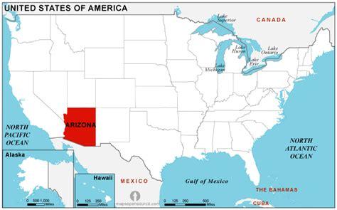 map of united states showing arizona arizona location map location map of arizona state usa