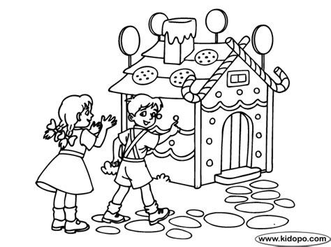 Hansel And Gretel Going Home Coloring Page Hansel And Gretel Coloring Page