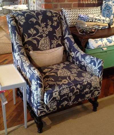 Blue And White Recliner Accent On Chairs Furniture Today