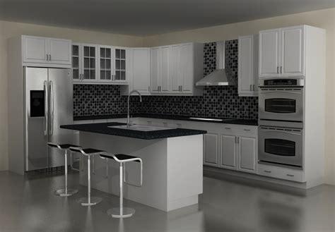 Brilliant Modern Kitchen With U Shape Granite Black