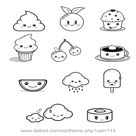 imagenes kawaii para dibujar de amistad dibujos kawaii de amor para colorear