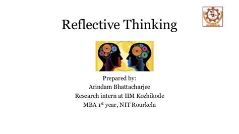 Mba Style Of Thinking by Reflective Thinking