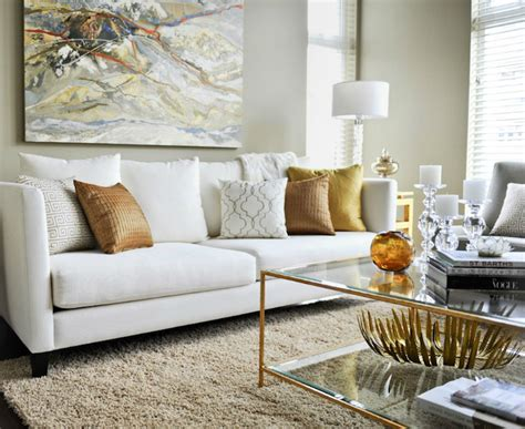 Living Room Gold Sofa Brass Coffee Table Contemporary Living Room Twenty