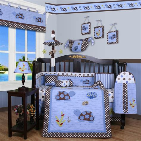 crib bedding set for boy geenny crib cf 2052 sea turtle 13 pc baby bedding set