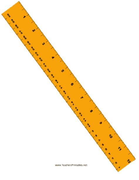 printable yellow ruler ruler with centimeters