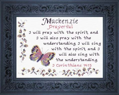 Wedding Blessing Meaning by Mackenzie Name Blessings Personalized Cross Stitch