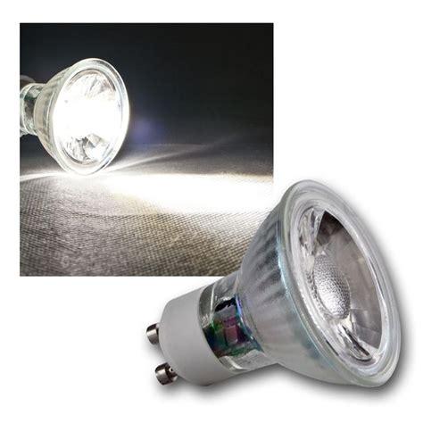 led strahler gu10 led strahler h35 cob gu10 glas daylight 250lm 3w