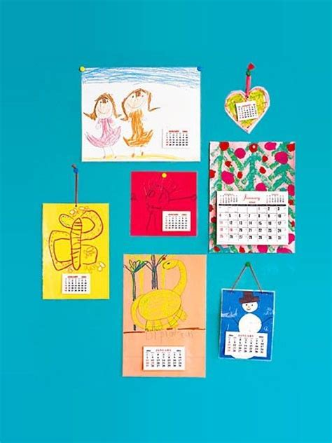 Handmade Calendars - handmade calendar for parents school