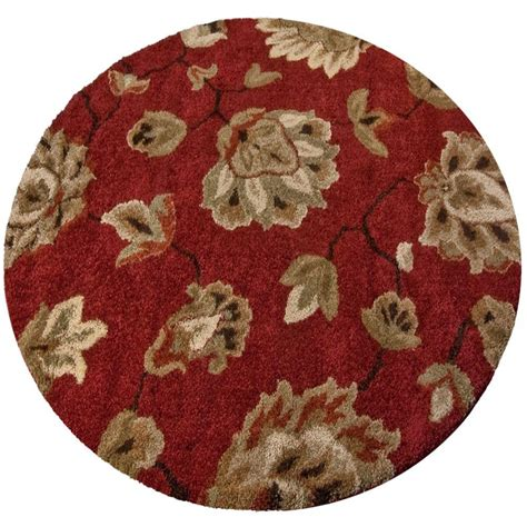 Orian Rugs Como Rouge 7 Ft 10 In Round Area Rug 238563 10 Foot Area Rugs