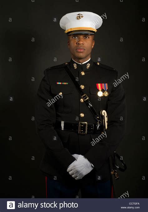 Marine Corps Officer by United States Marine Corps Officer In Blue Dress Quot A