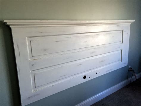 french cleat headboard king headboard from old door annie sloan pure white chalk