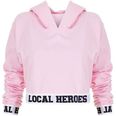 Sweater Pink Lh pink crop sweatshirt clothing