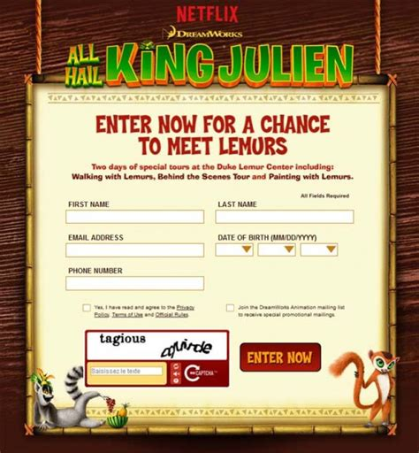 Netflix Sweepstakes - all hail king julien sweepstakes netflix dreamworks sweepstakes pit
