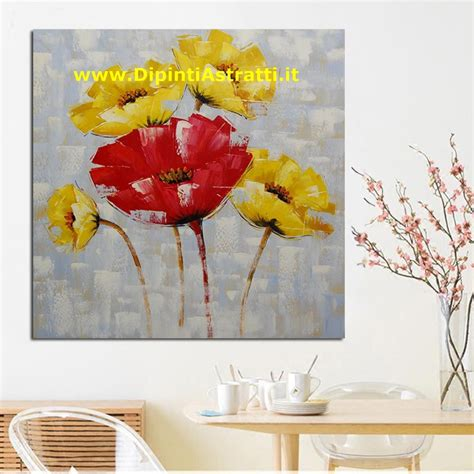 quadri con fiori quadri moderni con fiori e gialli dipintiastratti