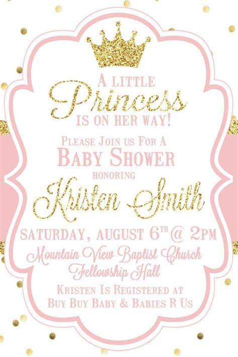 Top 10 Baby Shower Invitations Original For Boys And Girls Princess Baby Shower Invitation Templates Free