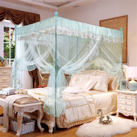new design three doors mosquito net quadrate mesh bedding