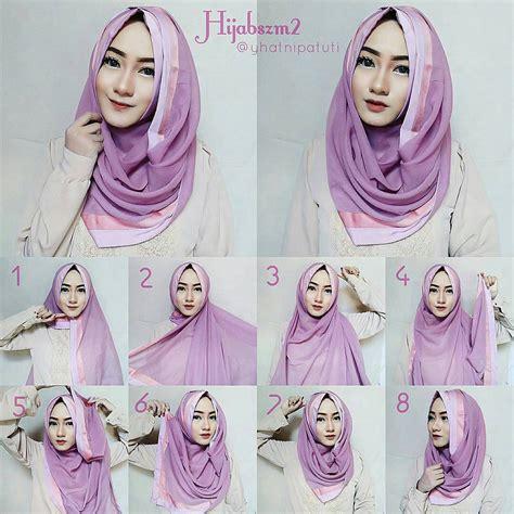 kreasi tutorial model hijab pesta simple terbaru