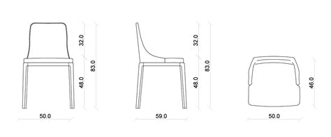misura sedia sedia in legno margot meroni arreda