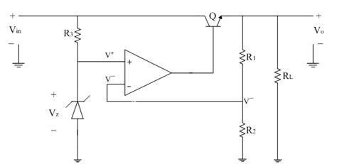 zener diode used as lifier series regulator using op electronics tutorial