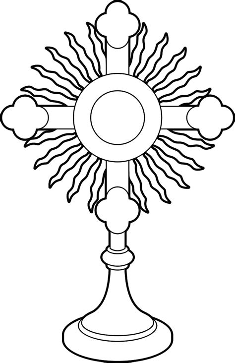 Monstrance Page Coloring Pages Monstrance Coloring Page