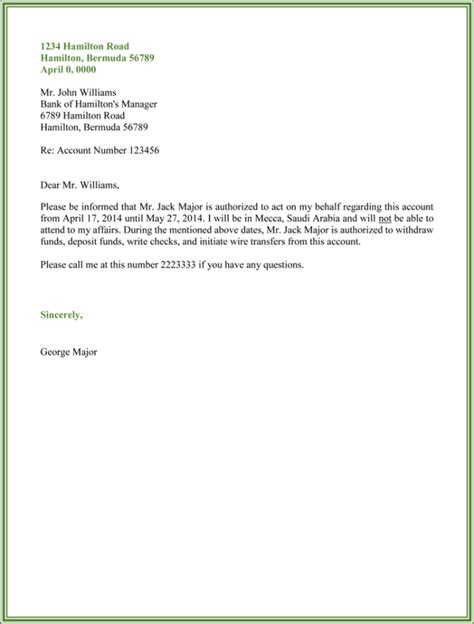 Authorization Letter For Bank 10 best authorization letter sles and formats