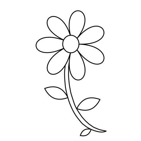 Outline Sketches Of Flowers by Easy Flower Drawing Outline Drawing Of Sketch