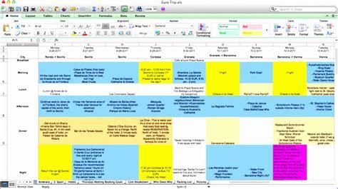 trip planner template excel 8 travel plan template excel exceltemplates exceltemplates
