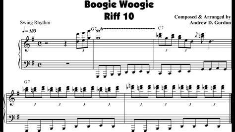 tutorial piano boogie woogie medium tempo boogie woogie piano riff composed by andrew d