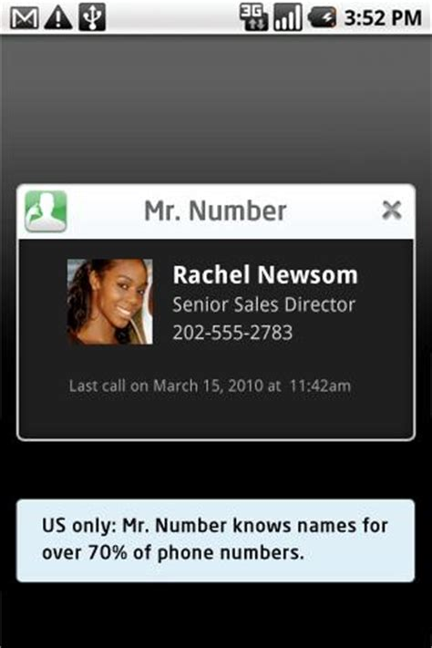 mr number app for android mr number android app review mr number for android